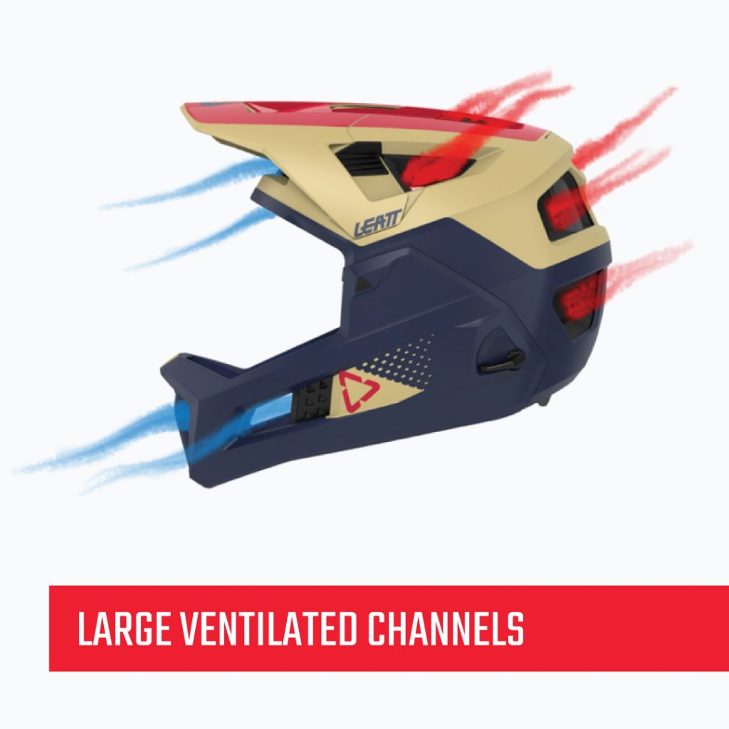 Large ventilated channels