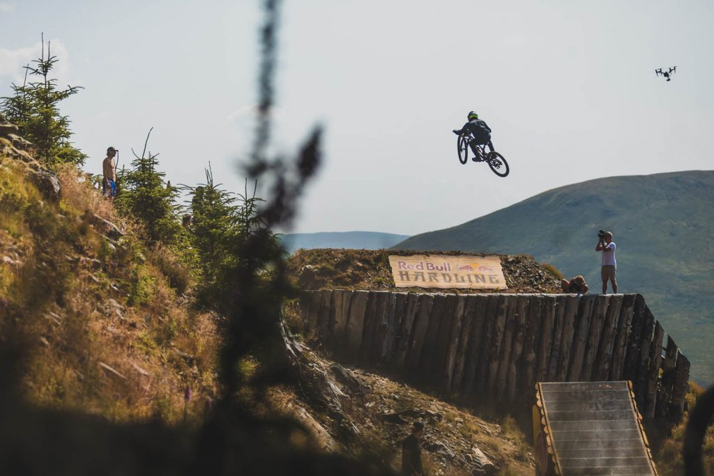 Team Chain Reaction Cycles take on Red Bull Hardline [pic by Moonhead Media]