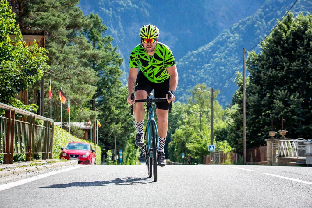 Matt ready to smash the climb of Alpe d'Huez