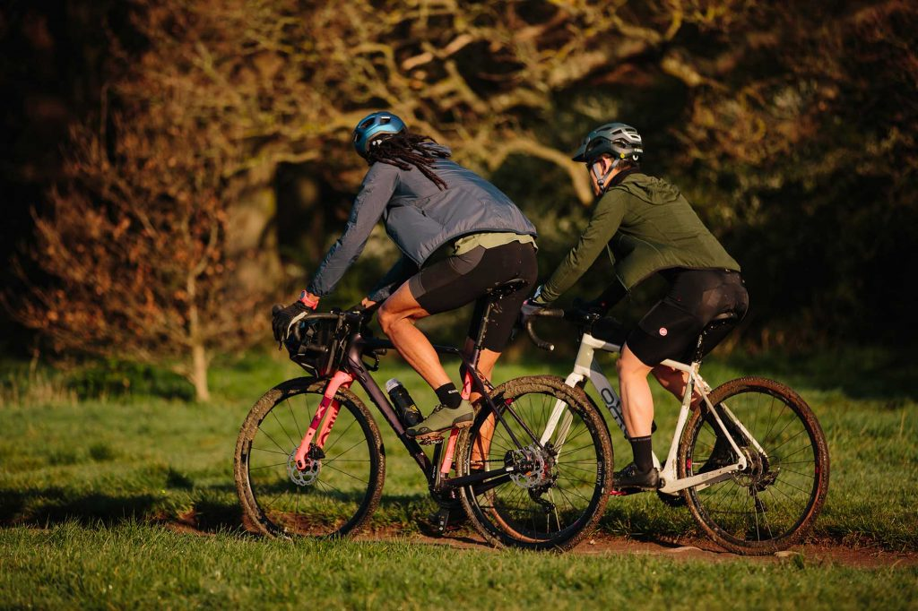 Two riders enjoying a gravel ride